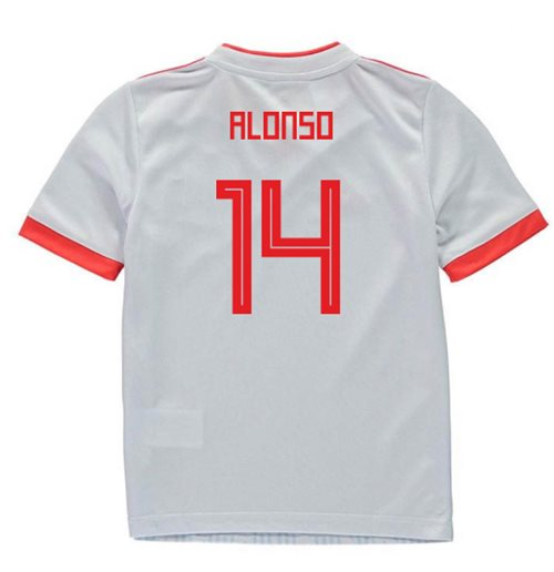 2018-2019 Spain Away Adidas Mini Kit (Alonso 14)