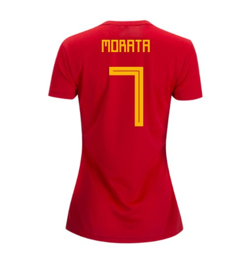 2018-2019 Spain Home Adidas Womens Shirt (Morata 7)