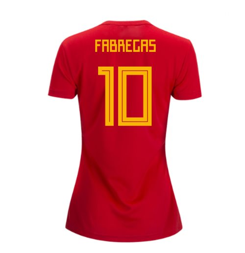 2018-2019 Spain Home Adidas Womens Shirt (Fabregas 10)