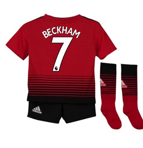 quality design 25485 77eea 2018-2019 Man Utd Adidas Home Little Boys Mini Kit (Beckham 7)