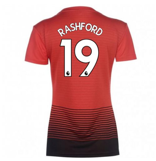 2018-2019 Man Utd Adidas Womens Home Shirt (Rashford 19)