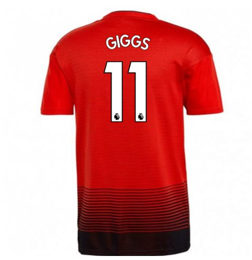 2018-2019 Man Utd Adidas Home Football Shirt (Giggs 11) - Kids