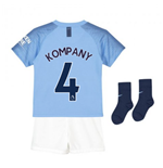 2018-2019 Man City Home Nike Little Boys Mini Kit (Kompany 4)