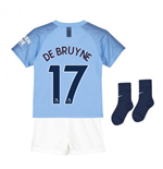 2018-2019 Man City Home Nike Little Boys Mini Kit (De Bruyne 17)