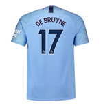 2018-2019 Man City Nike Vapor Home Match Shirt (De Bruyne 17)