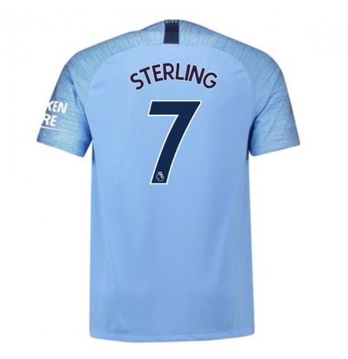 2018-2019 Man City Home Nike Football Shirt (Sterling 7) - Kids