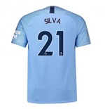 2018-2019 Man City Home Nike Football Shirt (Silva 21) - Kids