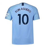 2018-2019 Man City Home Nike Football Shirt (Kun Aguero 10)