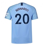 2018-2019 Man City Home Nike Football Shirt (Bernardo 20)