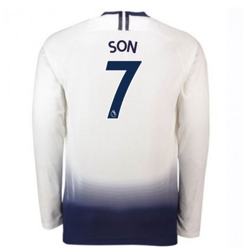 2018-2019 Tottenham Home Long Sleeve Nike Shirt (Son 7)