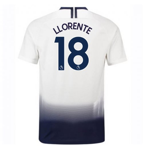 2018-2019 Tottenham Home Nike Football Shirt (Llorente 18)
