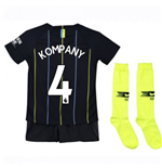 2018-2019 Man City Away Nike Little Boys Mini Kit (Kompany 4)