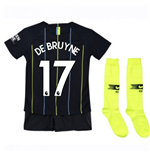 2018-2019 Man City Away Nike Little Boys Mini Kit (De Bruyne 17)