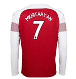 2018-2019 Arsenal Puma Home Long Sleeve Shirt (Mkhitaryan 7) - Kids