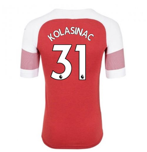 2018-2019 Arsenal Puma Home Football Shirt (Kolasinac 31)
