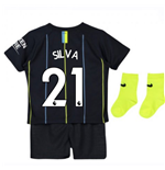 2018-2019 Man City Away Nike Baby Kit (Silva 21)