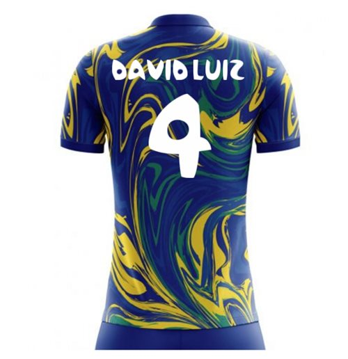 2018-19 Brazil Away Concept Shirt (David Luiz 4) - Kids