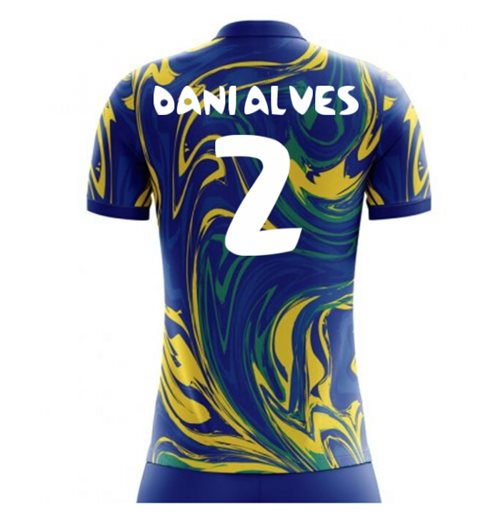 2018-19 Brazil Away Concept Shirt (Dani Alves 2)