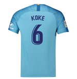 2018-19 Atletico Madrid Away Football Shirt (Koke 6) - Kids