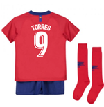 2018-2019 Atletico Madrid Home Nike Little Boys Mini Kit (Torres 9)