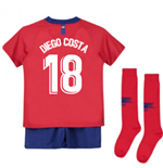 2018-2019 Atletico Madrid Home Nike Little Boys Mini Kit (Diego Costa 18)