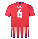 2018-2019 Atletico Madrid Home Nike Football Shirt (Koke 6)
