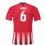 2018-2019 Atletico Madrid Authentic Vapor Match Home Nike Shirt (Koke 6)