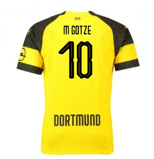 2018-2019 Borussia Dortmund Puma Home Football Shirt (M Gotze 10) - Kids