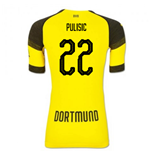 2018-2019 Borussia Dortmund Puma Authentic EvoKNIT Home Football Shirt (Pulisic 22)