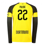 2018-2019 Borussia Dortmund Home Long Sleeve Puma Shirt (Pulisic 22) - Kids