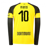 2018-2019 Borussia Dortmund Home Long Sleeve Puma Shirt (M Gotze 10)