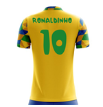 2018-2019 Brazil Home Concept Football Shirt (Ronaldinho 10) - Kids