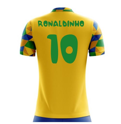 2018-2019 Brazil Home Concept Football Shirt (Ronaldinho 10)