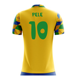 2018-2019 Brazil Home Concept Football Shirt (Pele 10) - Kids