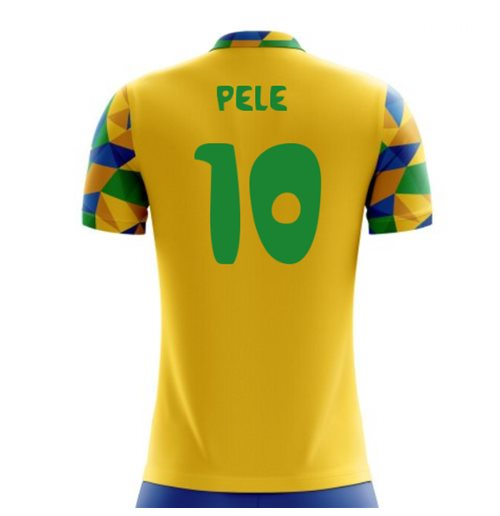 2018-2019 Brazil Home Concept Football Shirt (Pele 10)