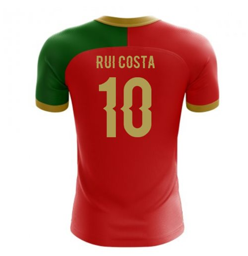 2018-2019 Portugal Flag Home Concept Football Shirt (Rui Costa 10) - Kids