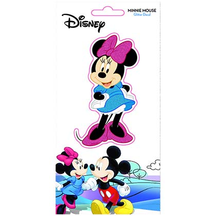DISNEY Minnie Mouse Glitter Window Sticker Decal