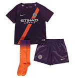 2018-2019 Man City Third Nike Little Boys Mini Kit