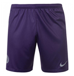 2018-2019 Man City Third Nike Football Shorts (Purple)