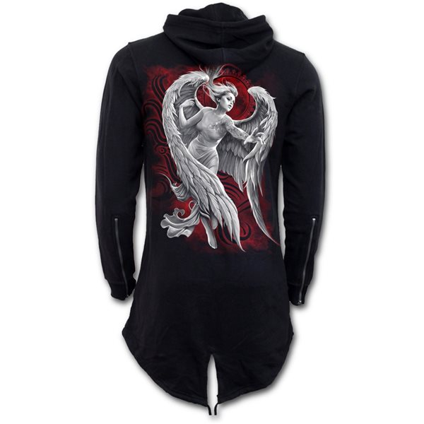 Angel Despair - Ladies Fish Tail Full Zip Hoody - Zip Sleeve
