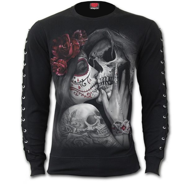 Dead Kiss - Laceup Sleeve Gothic Top
