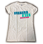 Little Mix Ladies Tee: Logo Blue/Pink (Ex Tour)