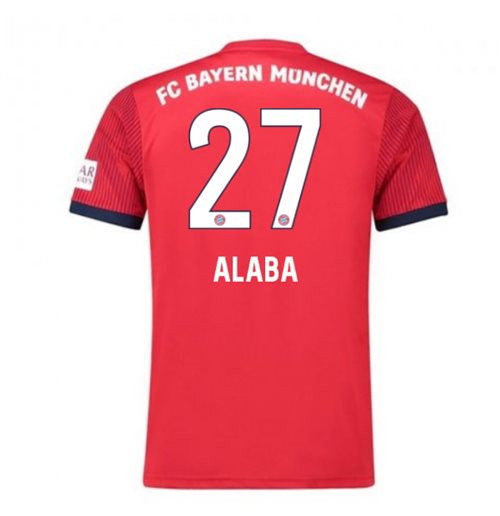 2018-2019 Bayern Munich Adidas Home Football Shirt (Alaba 27) - Kids