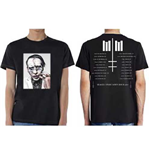 Marilyn Manson Men's Tee: Painted Face Euro Tour 2018 (Ex Tour/Back Print)