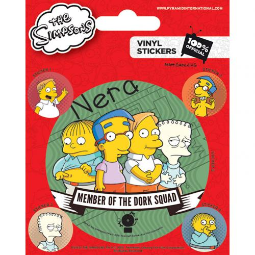 The Simpsons Stickers Dork Squad