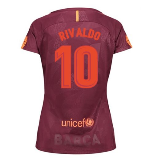2017-18 Barcelona Third Women Shirt (Rivaldo 10)