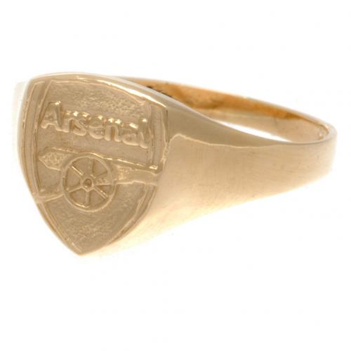 Arsenal F.C. 9ct Gold Crest Ring Small