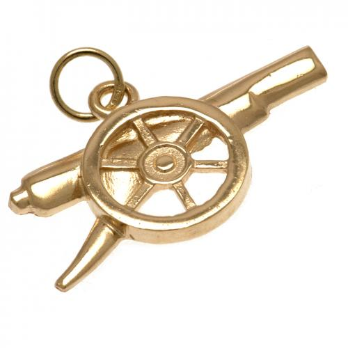 Arsenal F.C. 9ct Gold Pendant Cannon
