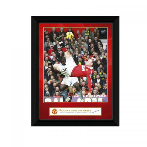 Manchester United F.C. Picture Rooney Derby Goal 8 x 6