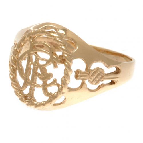 Rangers F.C. 9ct Gold Crest Ring Large